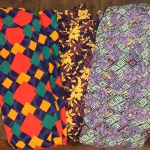 3 pack TC Lularoe legging pack